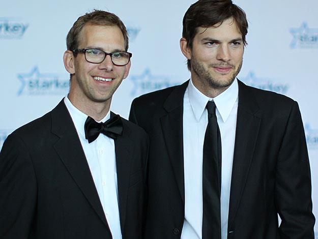 Ashton Kutcher and his twin Michael who had a heart transplant when the pair were just young children and also has cerebral palsy. Ashton has previously said that he contemplated suicide at the age of just 13 so he could save his brother's life with the heart transplant.