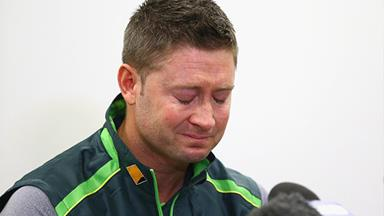 Michael Clarke's emotional tribute to Phillip Hughes