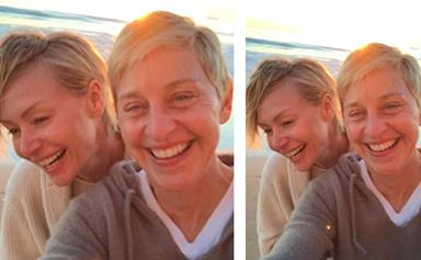 Ellen DeGeneres and Portia share loved-up selfie celebrating 10th anniversary