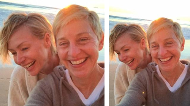 Ellen DeGeneres and Portia share loved-up selfie