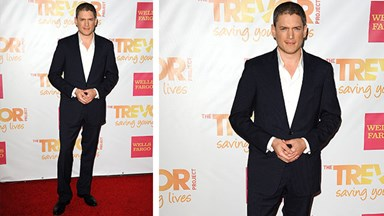 Wentworth Miller makes first red carpet appearance in more than four years!