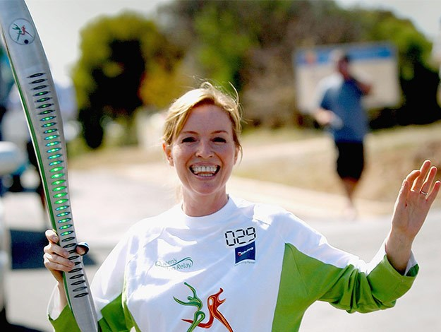 Rebecca was proud, partaking in the 2006 Commonwealth Games baton run.