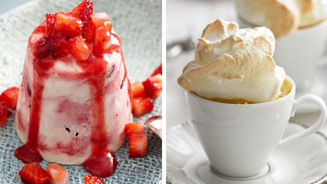 "*Left: Prince William's favourite, [Eton Mess](http://www.foodtolove.com.au/recipes/eton-mess-12124|target=""_blank"") and Right: Duchess Catherine's favourite, '[Queen of Puddings](http://www.foodtolove.com.au/recipes/queen-of-puddings-9112