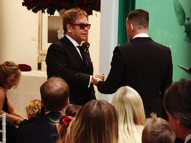Elton John and David finally tie the knot!