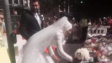 Muslim bride's touching tribute applauded by crowd at Martin Place