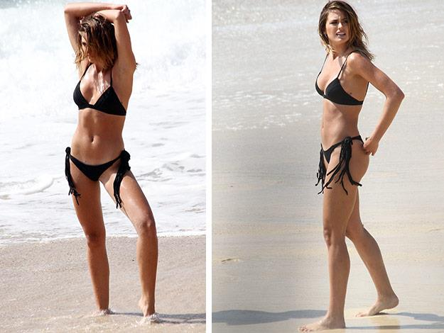 Strike a pose! Jesinta certianly knows how to flaunt it!