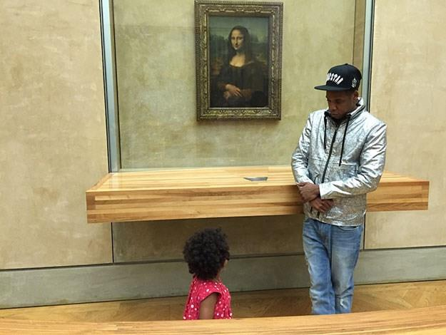 All toddlers have to learn about culture eventually and what better way to start than with a visit to the Mona Lisa at the Louvre in Paris.