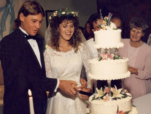 Bindi shared this stunning flashback snap of her parents' wedding day.