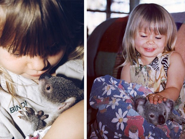 At an early age she had a love of animals!