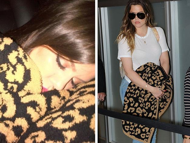 """Khloe was the big kid of the house who, despite being 30, was often seen cuddling up to her beloved """"Blankie""""."""