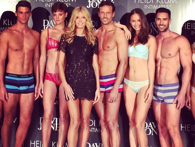 German supermodel Heidi Klum, 41, jetted into Australia this week to launch her new lingerie line for Bendon 'Heidi Klum Intimates'.