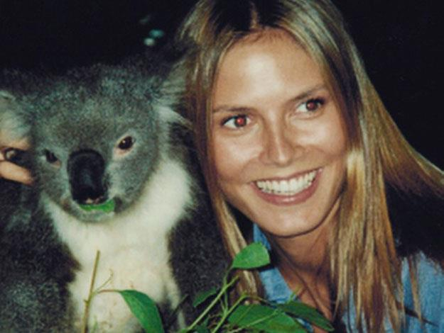 The picture harked back to Heidi's last visit here, 15 years ago when she also got to meet a cuddly friend!