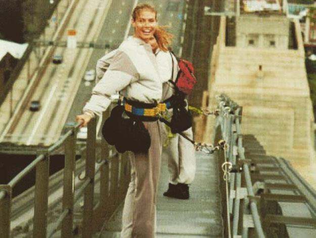 It was in fact her second bridgeclimb as the the supermodel had done it before!