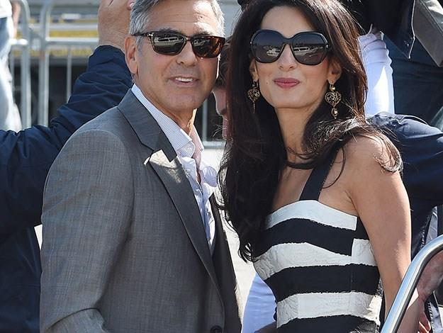 "George continued: ""Amal, whatever alchemy it is that brought us together, I couldn't be more proud to be your husband."""