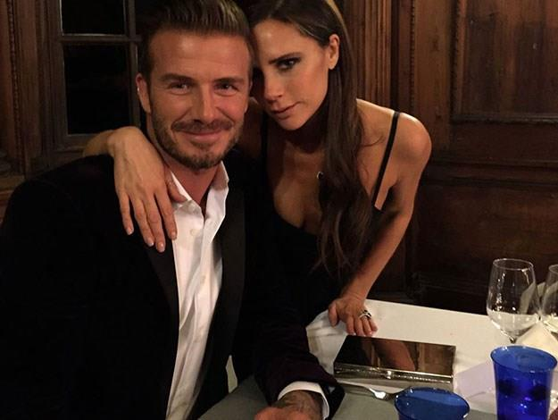 "Victoria Beckham on David Beckham: ""We've come a long way since that Spice Girls dressing room. David, you inspire me every day. You support me. You make this possible. I adore you and my children."""