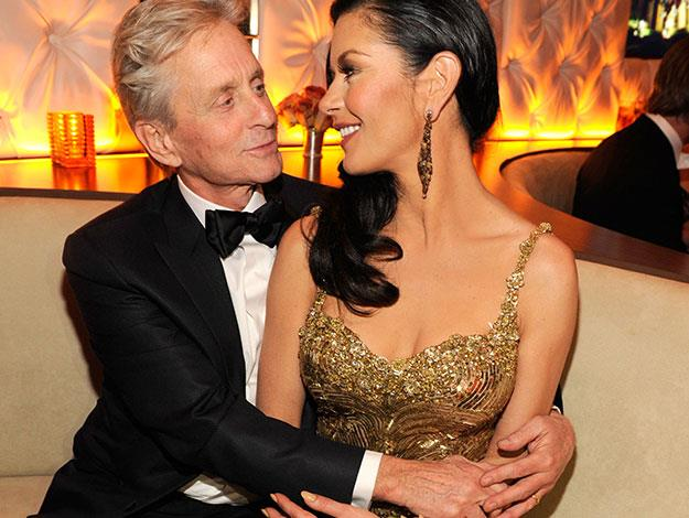 "Michael Douglas about Catherine Zeta Jones: ""I just got struck down. I was just bowled over by Catherine. When I discovered she loved golf, I realized all my fantasies had come true."""
