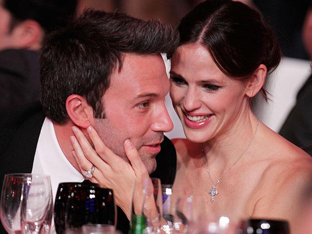 "Jen Garner on Ben: ""You steal the time. You steal a date, you steal a kiss, you steal a whisper. You sit next to each other on the couch with computers on your laps."" (Via Parade magazine)."
