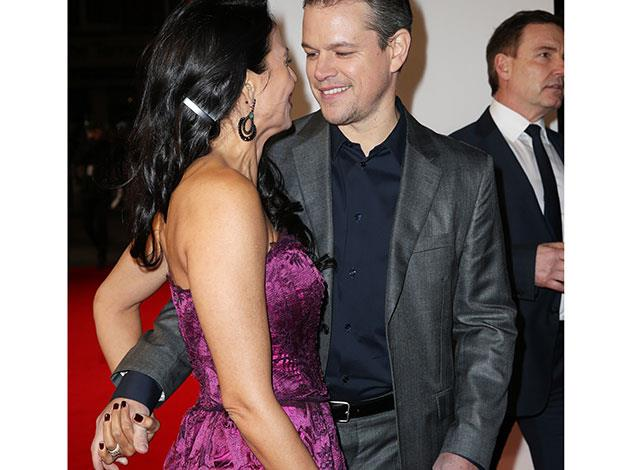 "Matt Damon about Luciana Barroso: ""There was something appealing about my wife and that was she didn't need me. I love that she's strong. Strength is a wonderful quality for my daughters to see in the most important woman in their life."""
