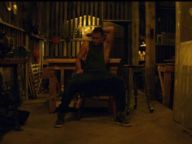 The trailer shows Channing practising his stripper moves solo as he works out in his shed.