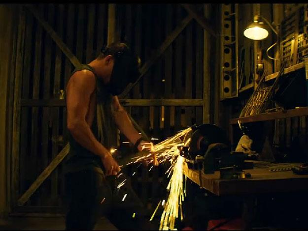 With a nod to that other infamous stripper-themed film from the 80s, the trailer opens with Channing practising his welding moves!