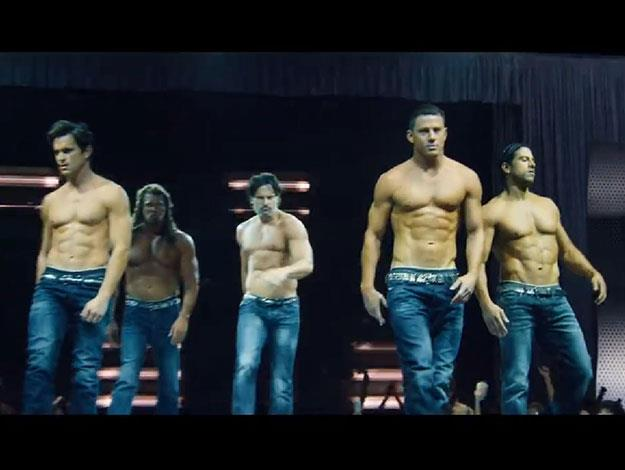 Oh hello there boys! The gang is back together, minus their shirts as they take to the stage in the tantalising sequel.