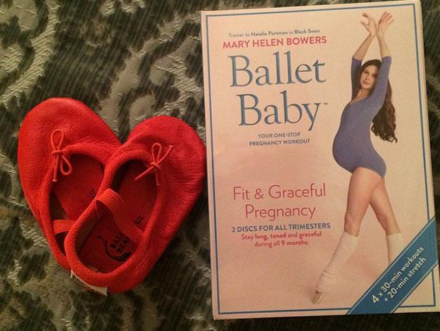 Liv hinted that she may have a little baby ballerina on the way when she posted this snap of baby ballet shoes and book a few weeks earlier!