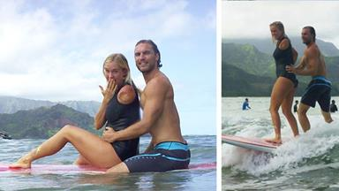 Pro-surfer shark-attack survivor Bethany Hamilton is pregnant!