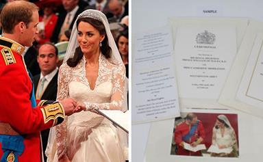 William and Catherine's wedding menu revealed for first time!