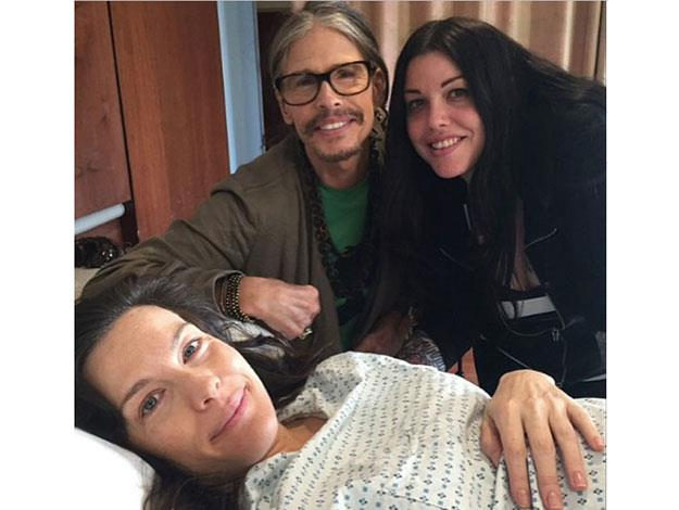 Steven Tyler shared this precious photo after his Liv gave birth! What a sweet family!
