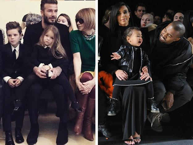 Harper's immaculate front row behaviour was the epitome of decorum compared to [Fashion Week's other VIP toddler attendee, North West](http://www.womansday.com.au/celebrity/photo-galleries/2015/2/a-rare-look-at-kim-k-playing-with-north-backstage-at-kanyes-show/), who even managed to get a smile out of her dad Kanye, as she struggled to suppress a tantrum in the front row at Alexander Wang.