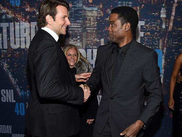 Bradley Cooper and Chris Rock on the red carpet.
