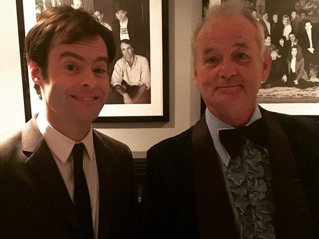 Two Bills: Former cast members Bill Hader and Bill Murray.