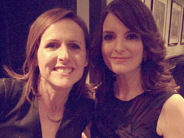 Former castmembers Molly Shannon and Tina Fey strike a pose.