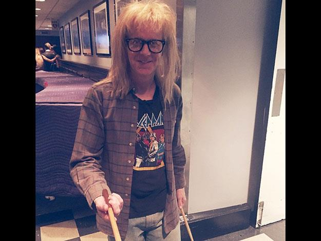 Garth from Wayne's World made a special return for the anniversary show.