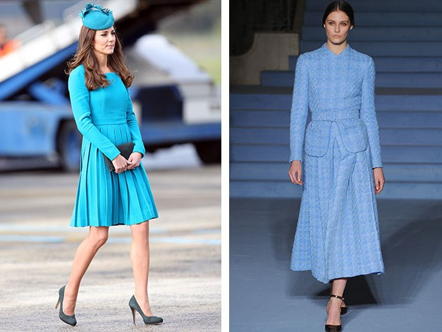 British label Emilia Wickstead showed some very classic tailored designs that the Duchess would no doubt be a fan of, having worn her pieces before when visiting New Zealand last year.
