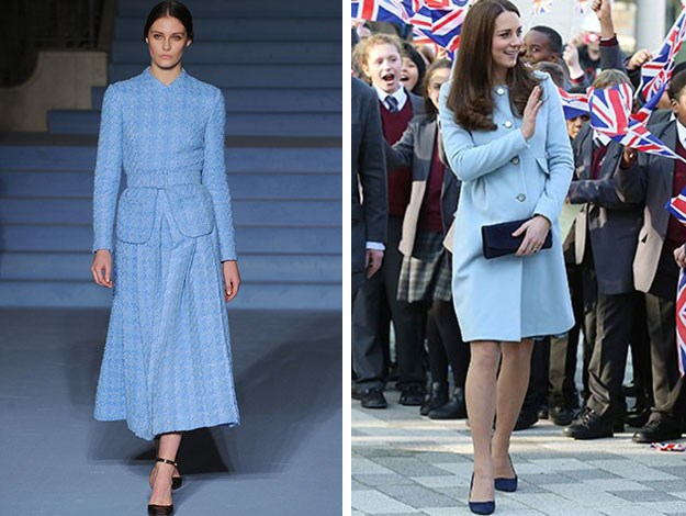 Indeed, this baby blue number looks like it could be a likely contender for the Duchess's wardrobe as she is quite a fan of the colour already.