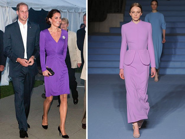 Another purple number by Emilia Wickstead would suit the Duchess - she was spotted in a similar shade frock by another favourite label of hers, Issa.