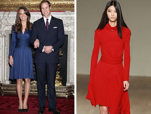 This red number by the British label Issa could be another favourite frock for the Duchess whose engagement dress by the same label sold out instantly after she wore it while posing with William for their official engagement photos