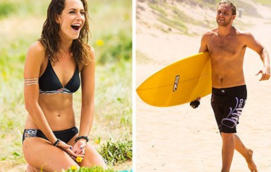Home and Away hotties hit the beach!