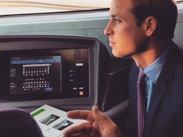 William got to have a ride in the cockpit of one of Japan's famous bullet trains.