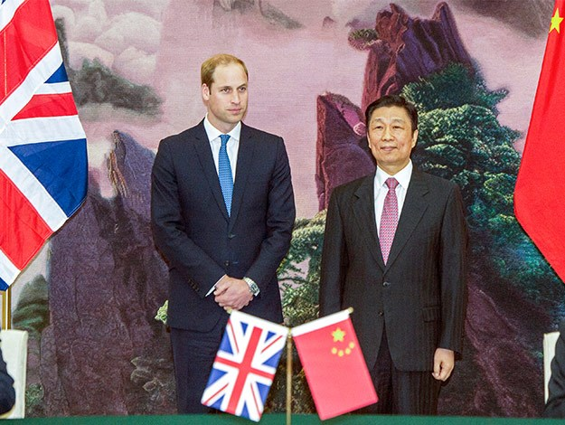 Prince William met with China's President Xi Jinping in Beijing.