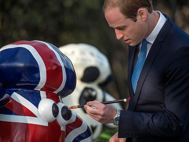 William showed off his painting skills at the British Ambassador's official residence, where he painted 'Shaun the Sheep' (he focused on mastering the eye)!