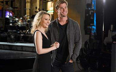 Chris Hemsworth is adorable in SNL promos but Elsa Pataky won't tell him that!