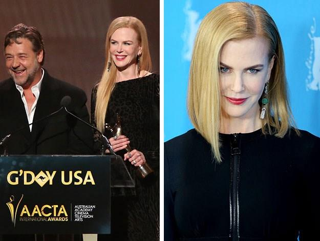 "Nicole Kidman is the latest celeb to go for the ""Lob"" or long-bob haircut."