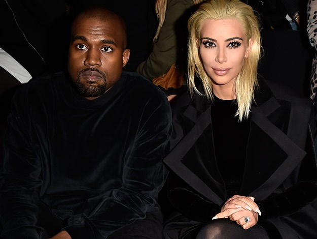 Kim and Kanye at Paris Fashion week.