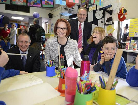 Julia Gillard was Australia's first female Prime Minister and has been an advocate for numerous charities as well as a huge focus on children's education.