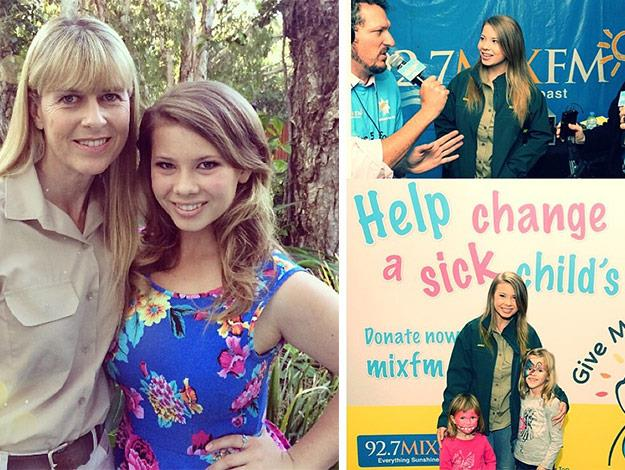[Terri and Bindi Irwin](http://www.womansday.com.au/celebrity/celebrity-headlines/2015/1/bindi-irwin-has-her-very-own-island/) are wildlife crusaders following in the footsteps of Steve Irwin. The mother-daughter duo , along have raised awareness worldwide and continue to help others in everything they do.