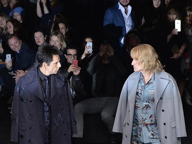 Rivals Zoolander and Hansel walk off at Valentino Paris show.