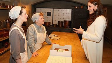 Duchess Catherine takes a royal tour of Downton Abbey!