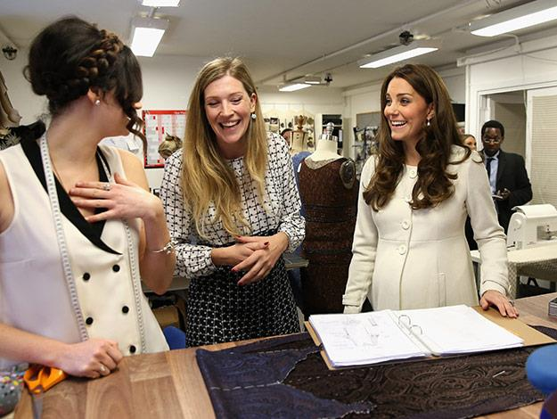 A stylish Duchess takes a tour of the wardrobe department.